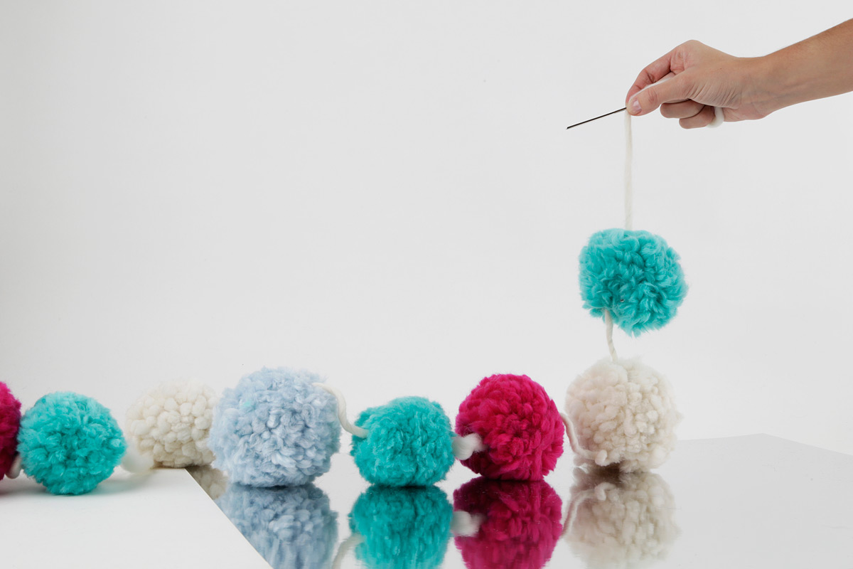 How To Make A Pom Pom Garland Wool And The Gang Blog Free Knitting Kit Patterns Downloads