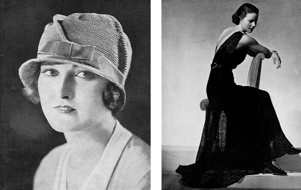 1920's Cloche Hat and 1930s Evening Gown