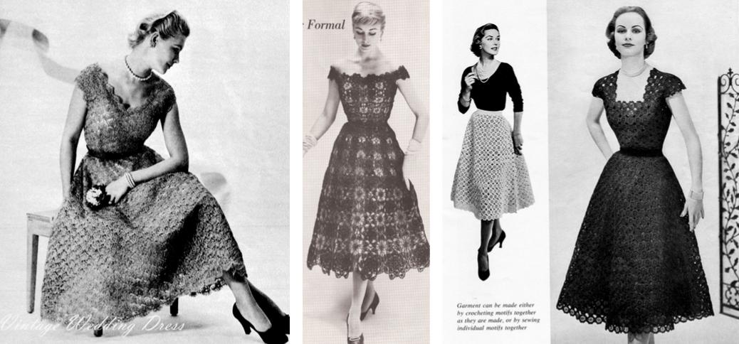 1950s Crochet Dresses