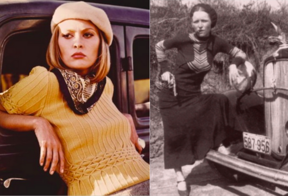 Faye Dunaway and the real -life Bonnie Parker