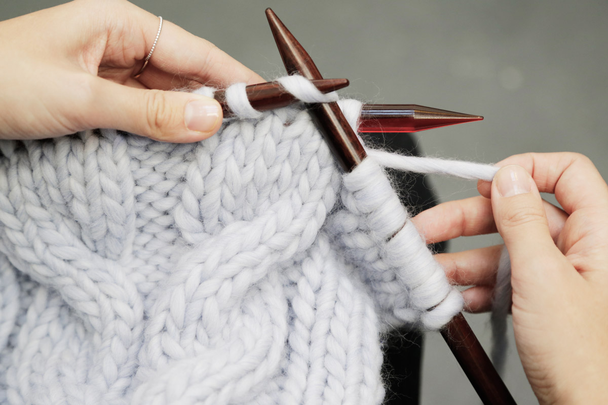 How To Knit Cables Wool And The Gang Blog Free Knitting Kit