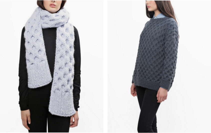 Love Buzz Scarf + Even Flow Sweater