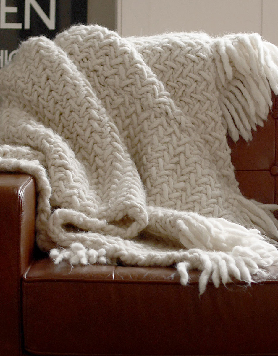 Knitting Pattern For A Throw Blanket : How to knit a blanket WATG Blog
