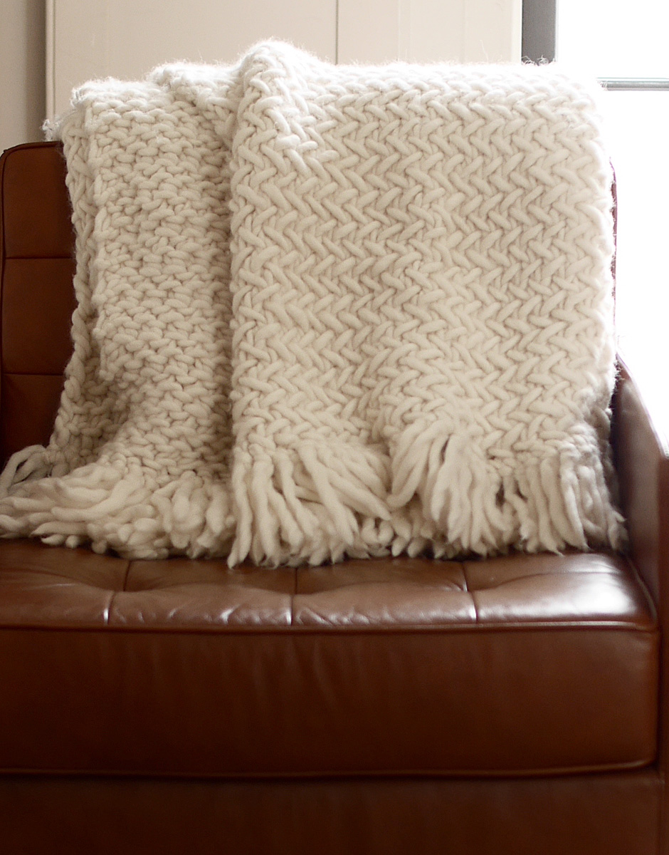 Knitting Blankets : How to knit a blanket watg