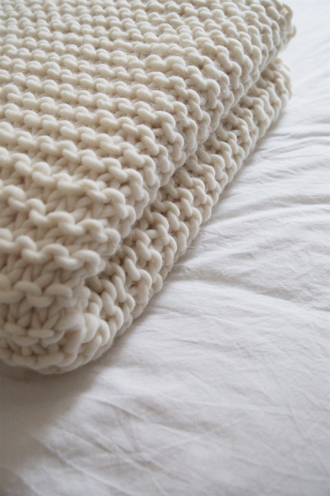 How To Knit A Blanket Wool And The Gang Blog Free Knitting Kit
