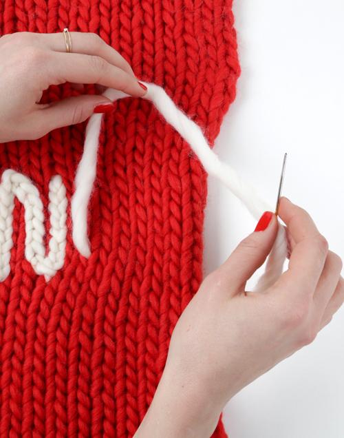 How to chain stitch 2