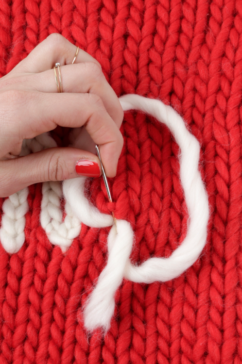 How to make the chain stitch 3