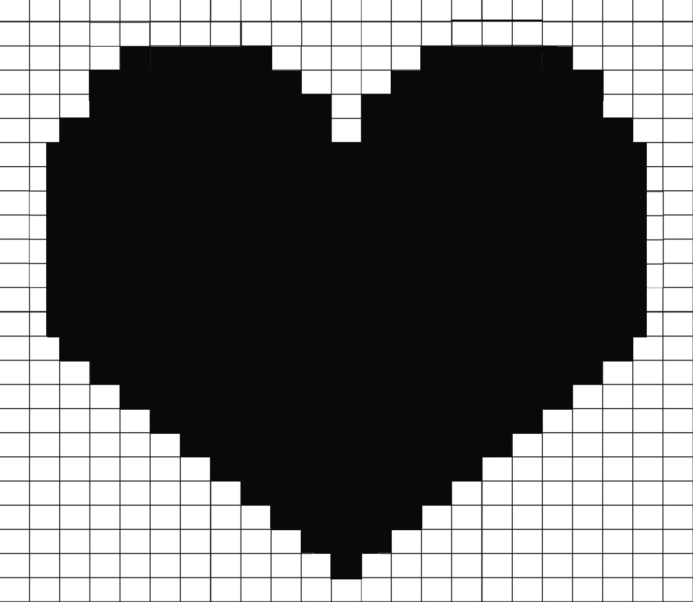 Duplicate Stitch Knitted Heart Template