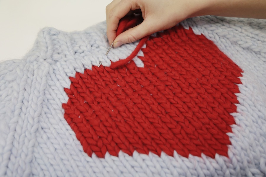 Free knitted heart template   duplicate stitch WATG Blog