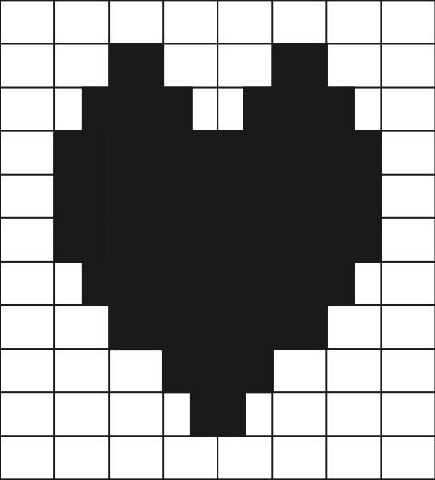 free heart pattern duplicate stitch charts