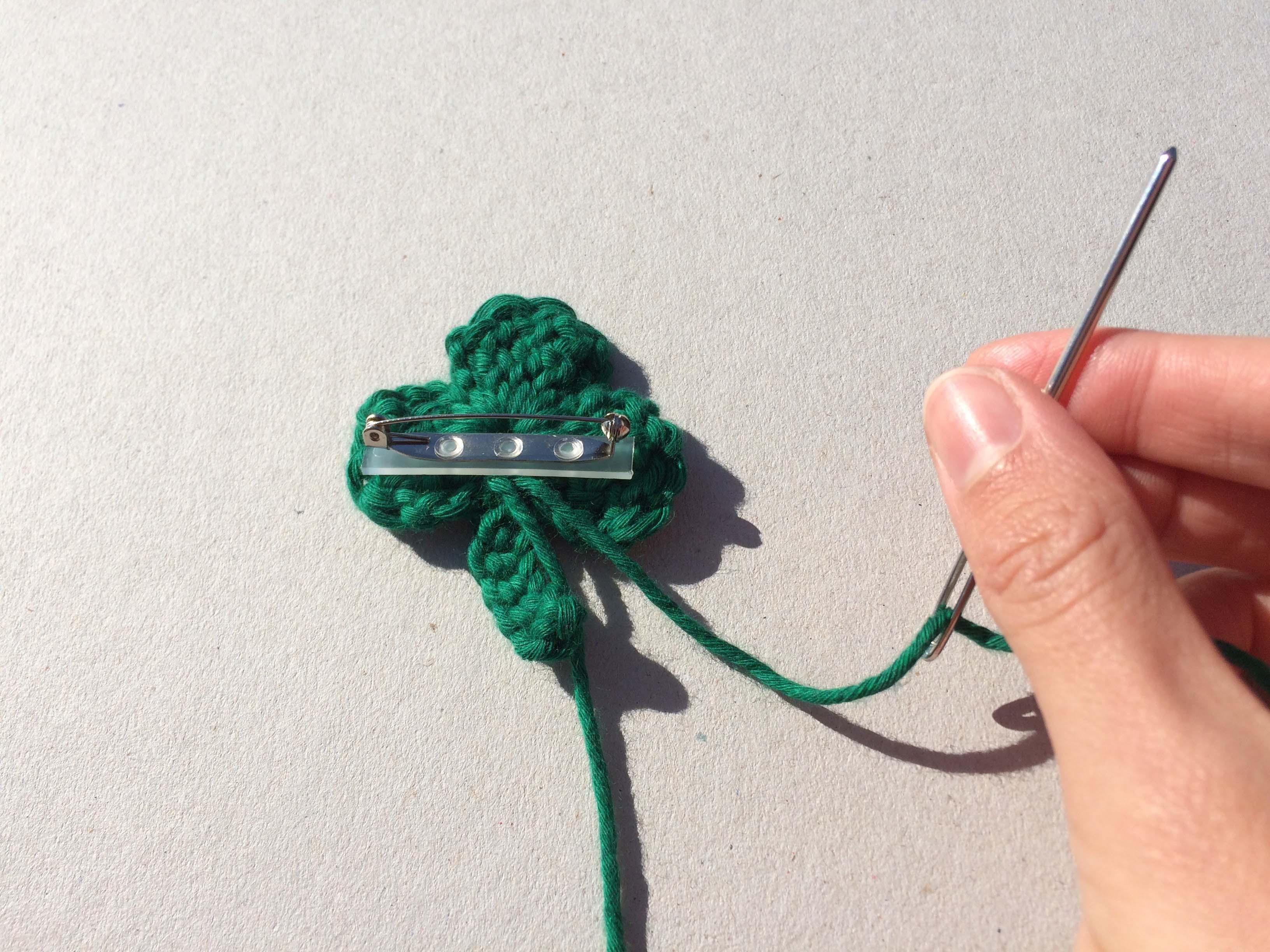 Cute crochet shamrock
