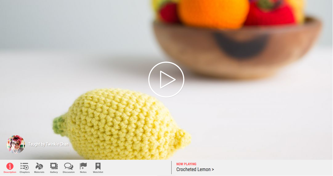 Learn how to make a crochet lemon free tutorial Twinkie Chan